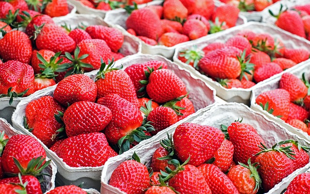 strawberries at a local farmers market