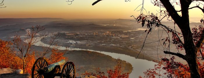 chattanooga view from mountain peak